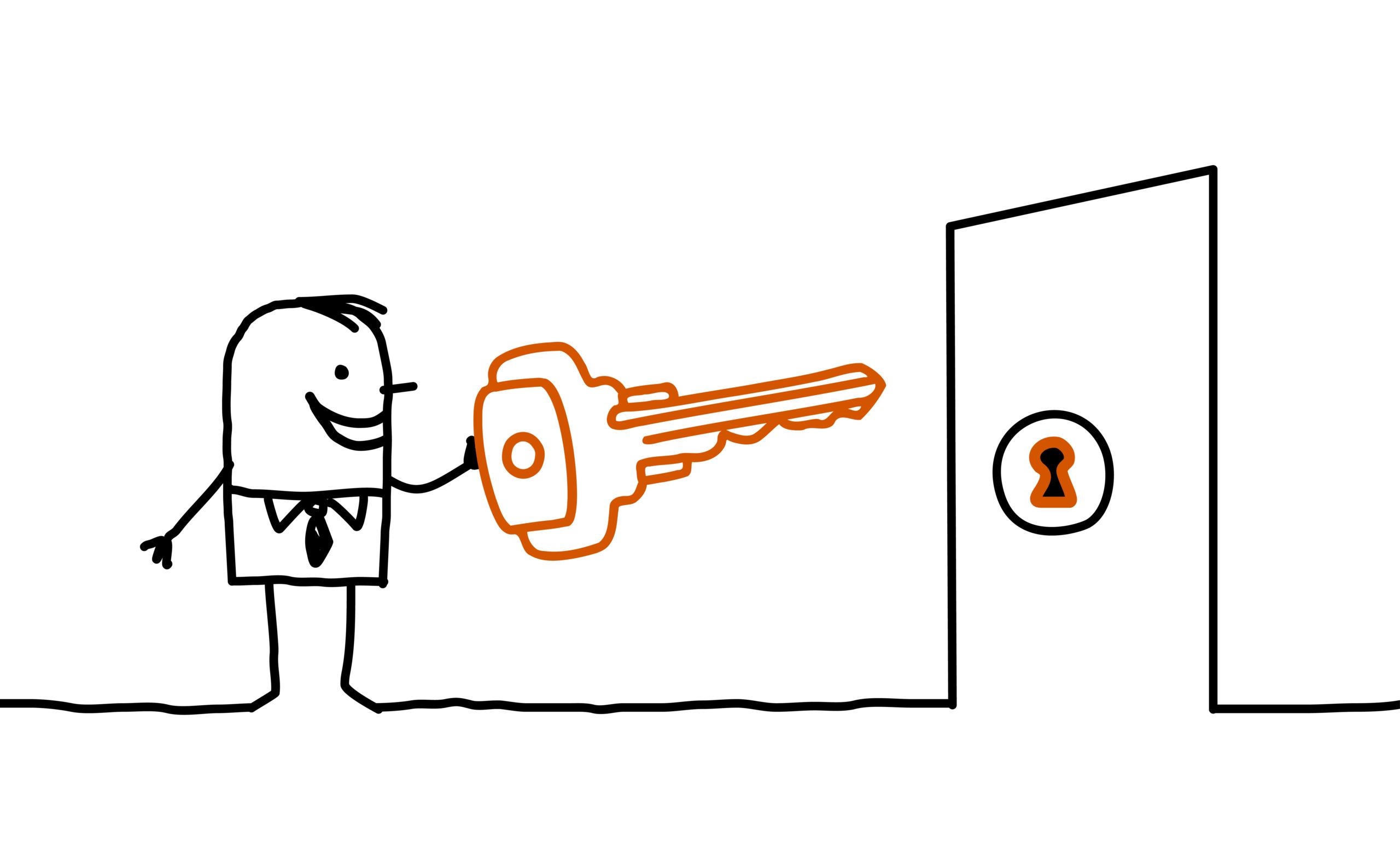 illustration personne ouvrant une porte